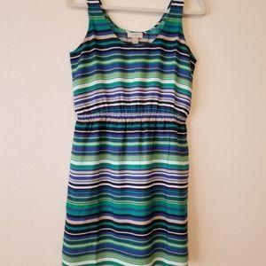 Loft Striped Tank Mini Dress size 4